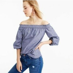 J Crew striped off the shoulder top